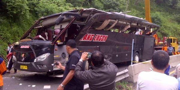 Diduga Sopir Bus Sang Engon Kelelahan, 16 orang Meninggal