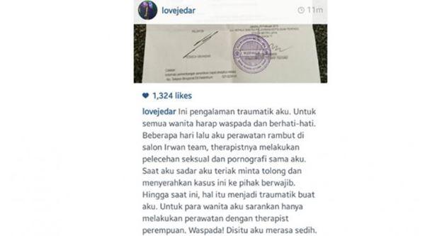 Jadi Korban Pelecehan seksual, Jessica Iskandar Melapor Polda Metro Jaya