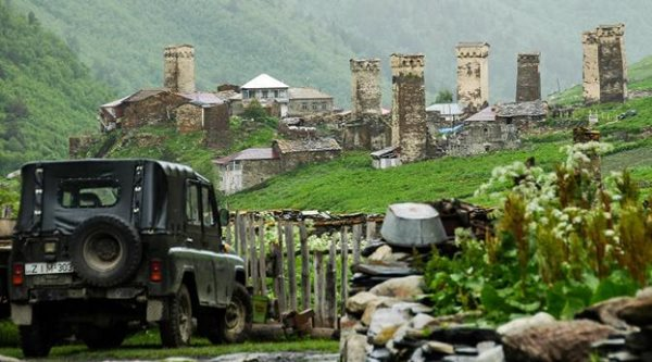 Desa Ushguli di Svaneti