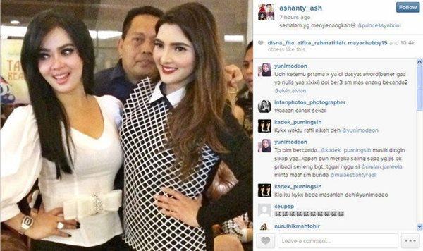 Netizen Senang Melihat Betapa Akrabnya Anang, Ashanty dan Syahrini 3