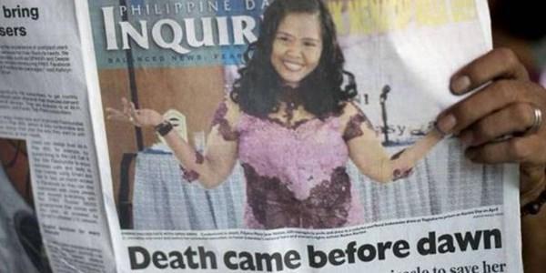 Sudah Cetak Ribuan, Koran Filipina Ini Kecele Soal Eksekusi Mati Mary