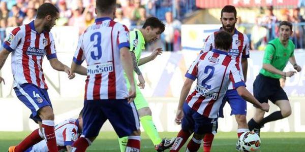 Atletico vs Barcelona Cetak Gol, Messi Bawa Barca Juara La Liga 2