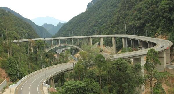 Jembatan Layang Kelok Sembilan dengan View Gunung Sago -didik herwanto-riaupos