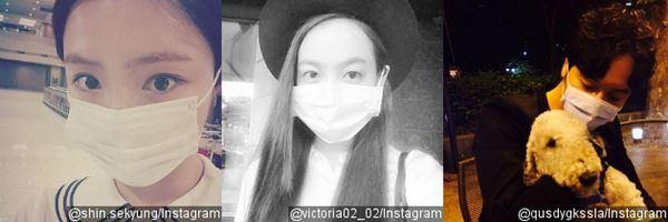 Meski Heboh Wabah MERS, Para Idol Ini tetap Eksis Selfie dengan Masker 2