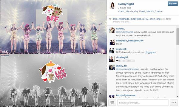 Sunny Dikecam Fans Karena Unggah Foto SNSD Tanpa Jessica