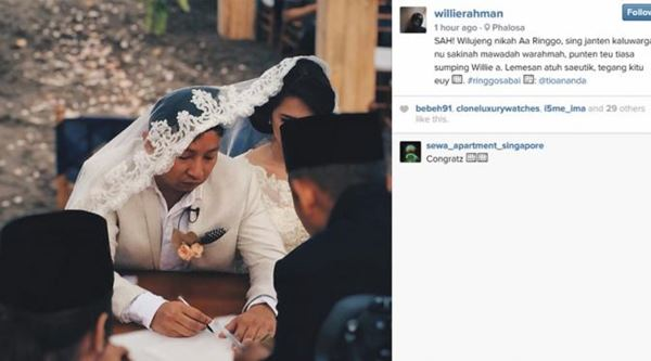 foto ijab kabul pernikahan ringgo dan sabai