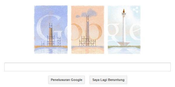 Ulang Tahun ke-40, Google Tampilkan Sejarah dan Proses Pembuatan Monas