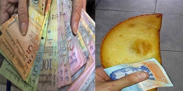 pembungkus makanan dengan uang di venezuela