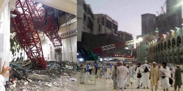 20 jamaah asal Indonesia luka-luka, Akibat insiden Crane Jatuh