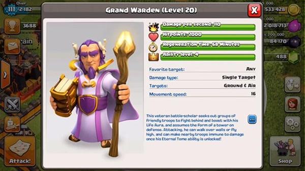 Resmi Update, Ini Dia Grand Warden Hero Baru Clash of Clans (CoC)