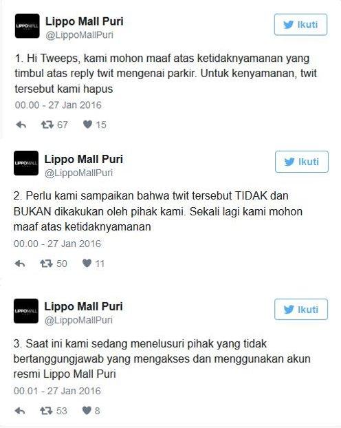 Sebut Orang Kere Jangan Main Ke Mall, Lippo Mall Puri Dihujat Netizen 2