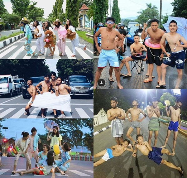 Trend Foto Telanjang Dada di Tengah Jalan, Kocak atau Menjijikkan