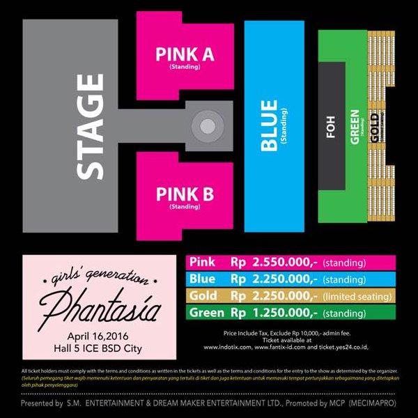 Bocoran Harga Tiket & Seatplan Konser 'Phantasia' SNSD di Jakarta