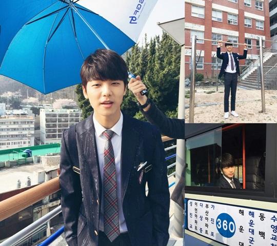 Kang Min Hyuk Berseragam Basah Kuyup di Lokasi Syuting 'Entertainer'