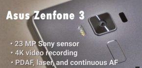 Asus Zenfone 3 Spesifikasi RAM 6 GB Kamera 23 Mp Harga Wow