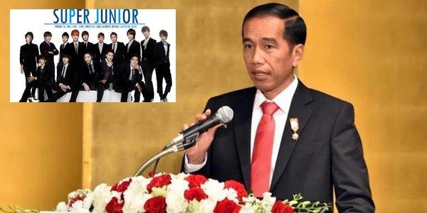 Beri Pidato, Jokowi Akui Suka dengan Lagu Super Junior