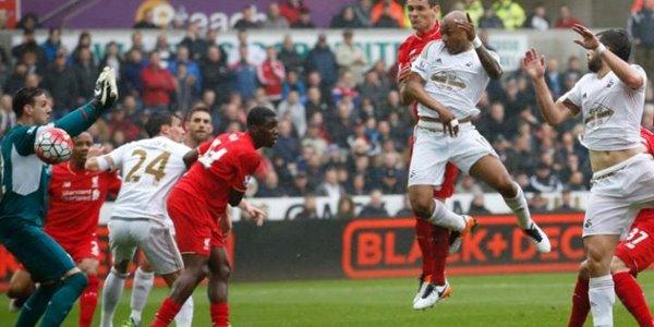 Lawan Swansea City, Gawang Liverpool Diberondong Tiga Gol