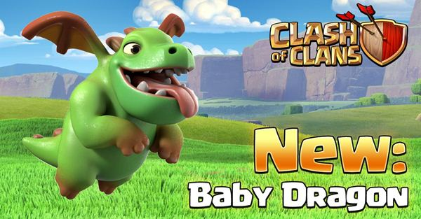 Clash of Clans Update Mei 2016 Trops Baby Dragon dan Miner
