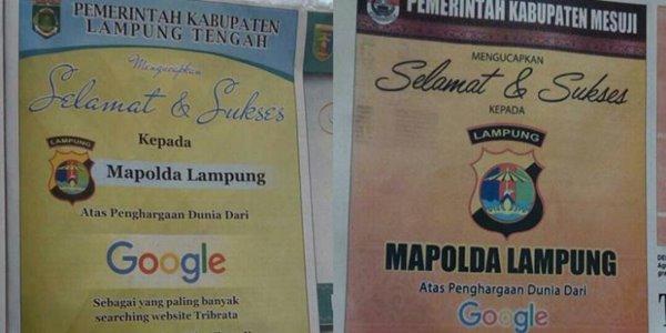 Bikin Heboh Netizen, Polda Lampung Klarifikasi Soal Penghargaan Google 2
