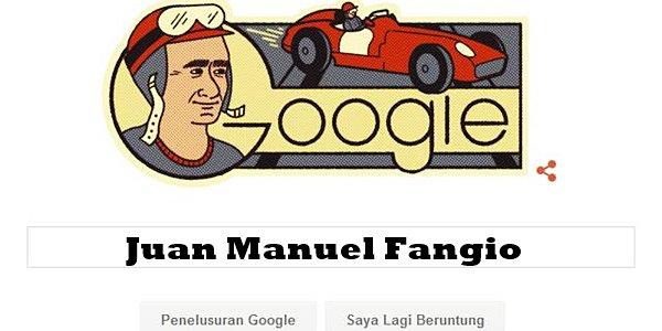 Juan Manuel Fangio, sang Maestro F1 yang Doodlenya Hiasi Google