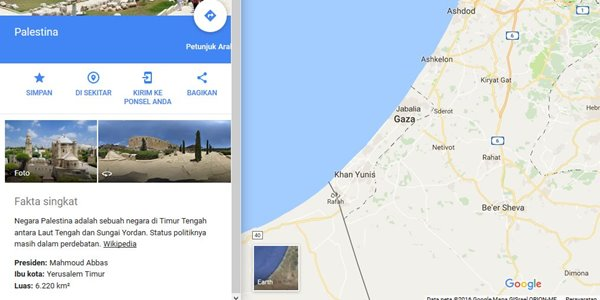 Banjir Kecaman, Ini Klarifikasi Google Terkait Hilangnya Palestina