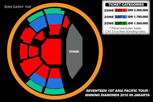 Seventeen 1st Asia Pacific Tour-Shining Diamonds 2016