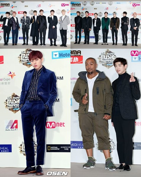 EXO, BTS dan Monsta X, Siapa Paling Ganteng di Red Carpet MAMA 2016?