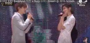 Tampil Romantis, Suzy dan Baekhyun EXO Buat Penonton MAMA 2016 Baper