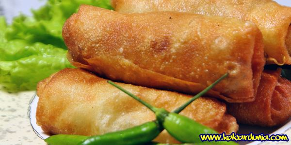 Resep Lumpia Goreng isi Sayur dan Ayam