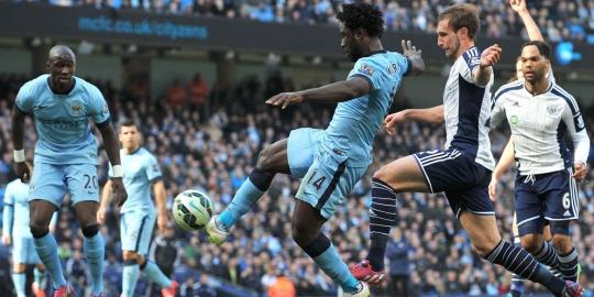 Hasil Liga Inggris : Manchester City 3 - 0 West Brom