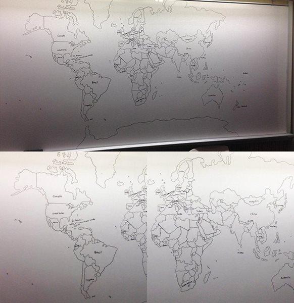 Keren! Bermodal Ingatan Bocah Ini Menggambar Peta Dunia Secara Detail 3