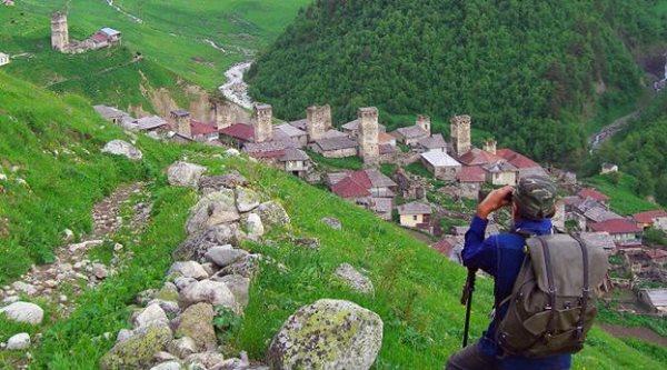 Pemandangan Desa Adishi di svaneti