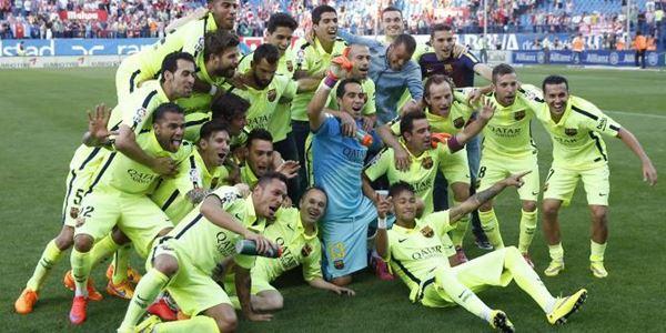 Atletico vs Barcelona Cetak Gol, Messi Bawa Barca Juara La Liga