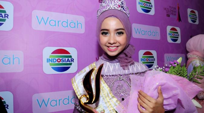 Sempat Down, Nesa Aqila Resmi Sandang Gelar Putri Muslimah 2015