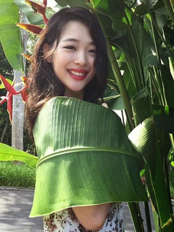 Sulli f(x) Bahagia Bisa Jalani Pemotretan di Bali 2