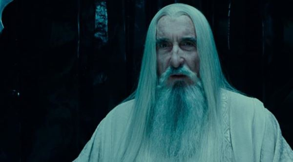 Christopher Lee saat di lord of the ring
