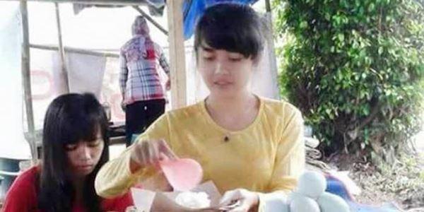 Dianggap Mirip Nabilah JKT48, Penjual Pecel Ini Hebohkan Sosial Media