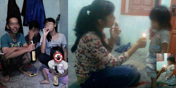 Lagi, Beredar Foto Orangtua yang sedang Ajarkan Anaknya Merokok