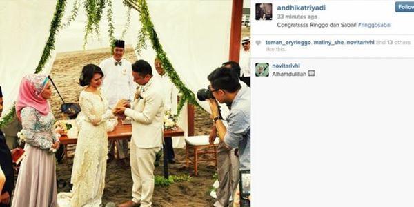 foto pernikahan ringgo dan sabai morscheck