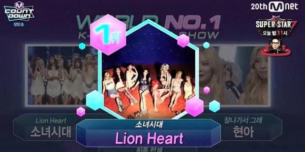 'Lion Heart' Bawa SNSD Kalahkan HyunA dan Juarai M!Countdown