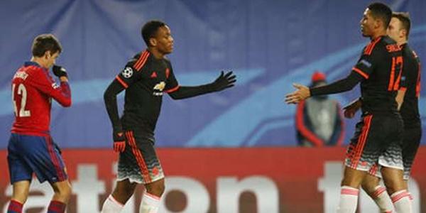 Hasil Liga Champions CSKA Moscow vs Manchester United: Martial Effect!