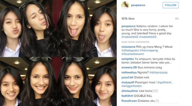 Selfie Duo Cantik, Pevita Pearce - Nabila JKT48 Hebohkan Netizen