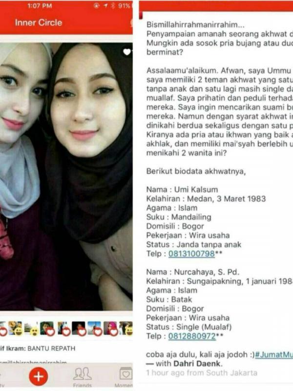 Wow, Dua Wanita Cantik Ini Mencari Suami dan Siap Dipoligami! 2
