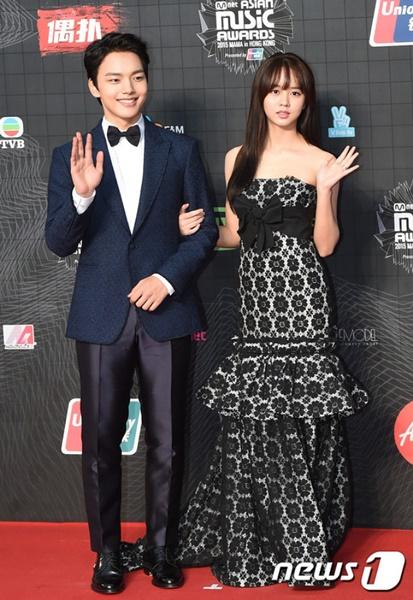 Hadiri MAMA 2015, Kim So Hyun dan Yeo Jin Goo Tampil Mesra 2