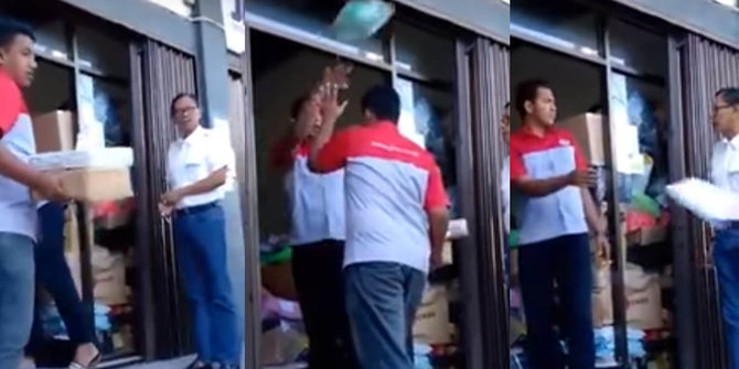 Video Petugas JNE Melempar-lempar Paket Klien ini Bikin Netizen Geram