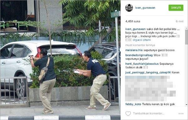 Gagal Fokus, Ivan Gunawan Malah Puji Pakaian Polisi di TKP Pengeboman