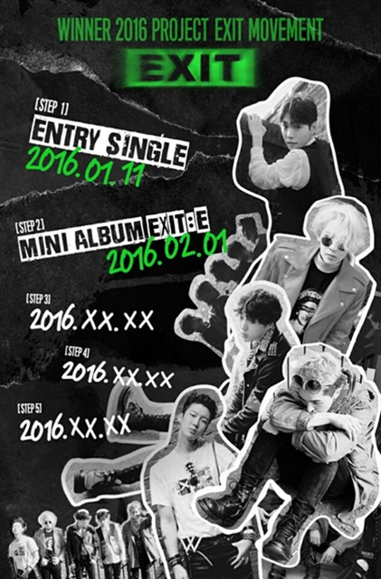 Tiru Konsep Album MADE Big Bang, WINNER Bakal Rilis Album Tiap Bulan