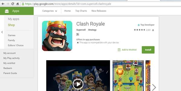 Game Clash Royale Versi 1.1.1 Akhirnya Rilis Untuk Android di PlayStore