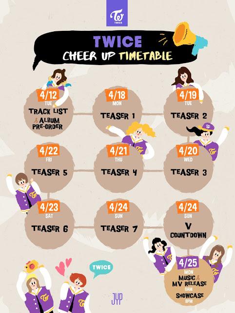 Jadwal Lengkap Perilisan Teaser Untuk Album Comeback Bertajuk 'Cheer Up' Dari TWICE