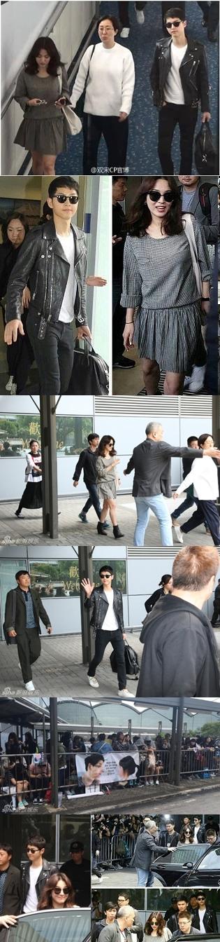 Begini Serasinya Song Joong Ki-Song Hye Kyo Sapa Fans di Hong Kong
